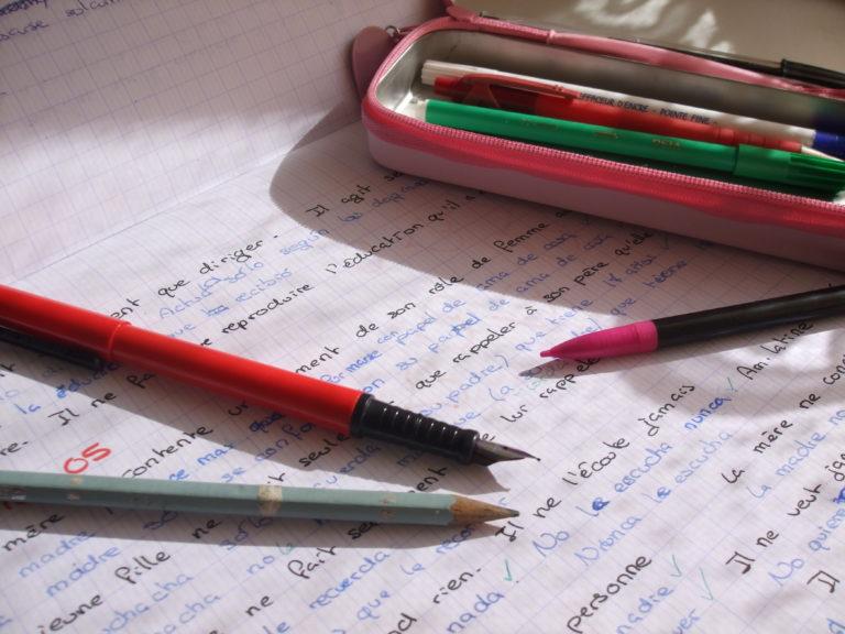 papier pour l'apprentissage