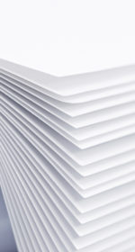 Feuilles de papier blanches